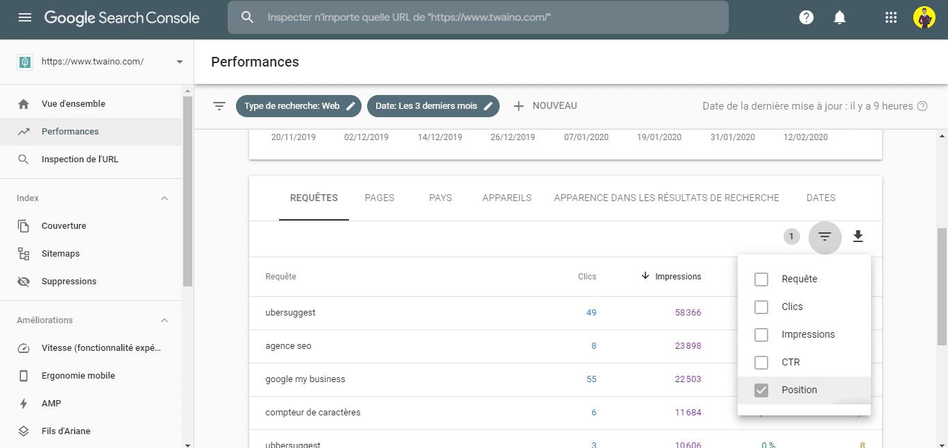 Trouver des opportunites de mots cles avec la Search Console 2