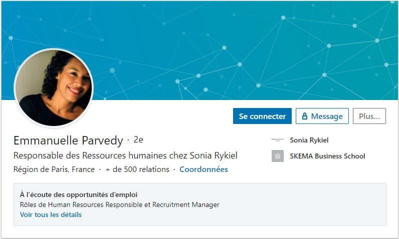 Profil LinkedIn Emmanuelle Parvedy