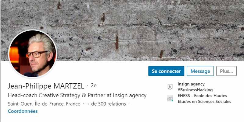 Profil LinkedIn Martzel Jean Philippe