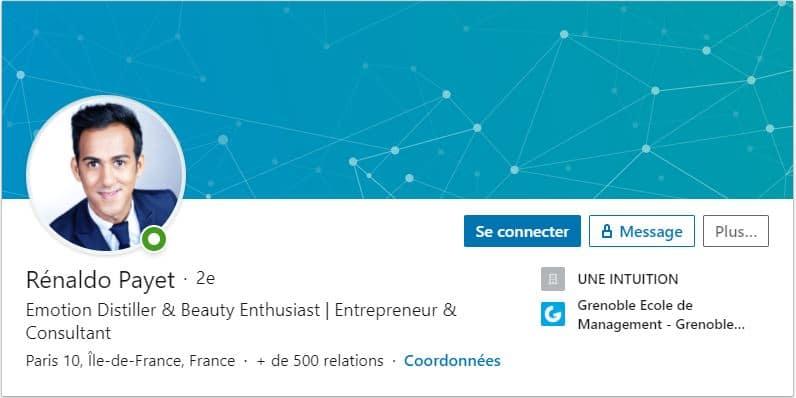 Profil LinkedIn Renaldo Payet