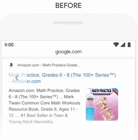 Reponse de Google avant BERT a l exemple 3