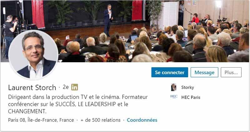 Profil LinkedIn Storch Laurent