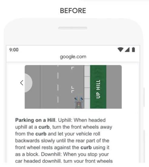 Reponse de Google avant BERT a l exemple 4