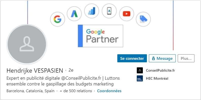 Profil LinkedIn Hendrijke VESPASIEN