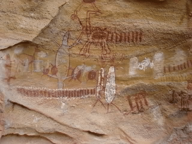Gravure d image sur des roches par nos ancetres