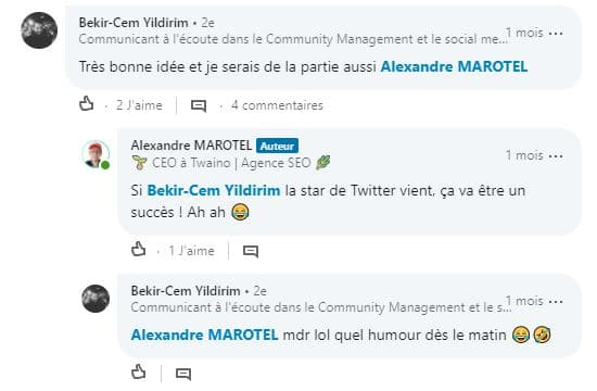 Appreciation extremenent positive de la communaute LinkedIn sur la rencontre networking organise 2