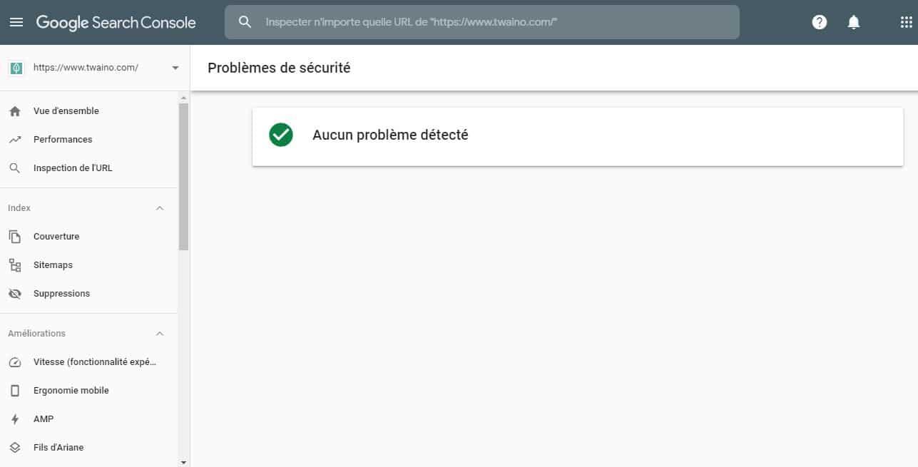 Verification de la securite d un site web dans la GSC