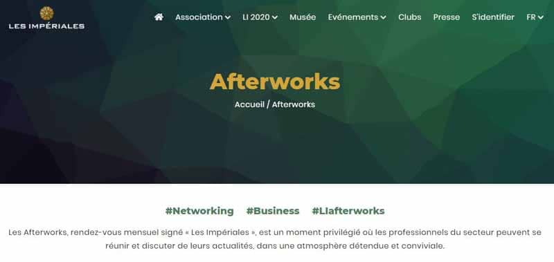 Evenement Afterworks de Les Imperiales