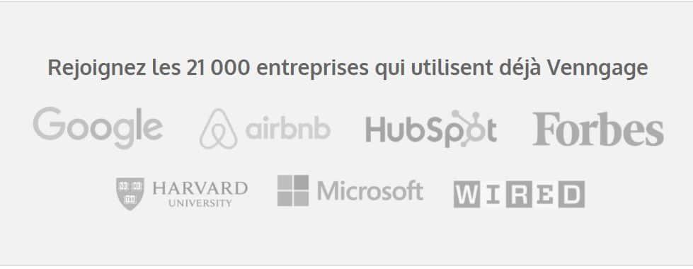Les entreprises utilisant Venngage