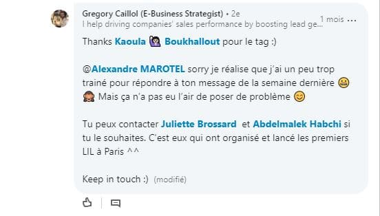 Discussions sur le nom de l evenement 2