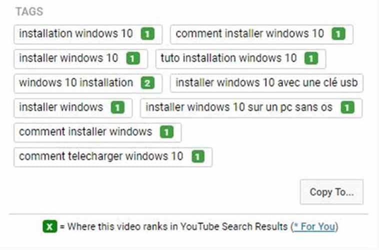Les requetes YouTube sur lesquelles se positionne la video grace a TubeBuddy