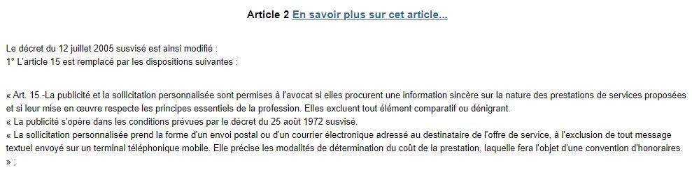 Article 2 du decret du 28 octobre 2014 n 2014 1251