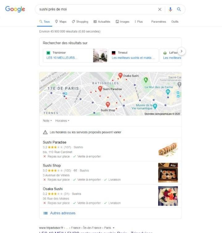 La pertinence local SEO