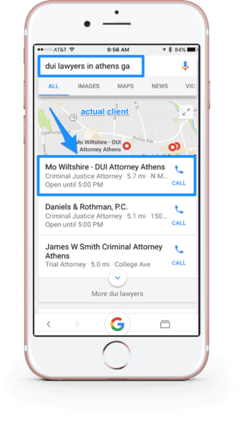 serp dui lawyers in athens ga local SEO