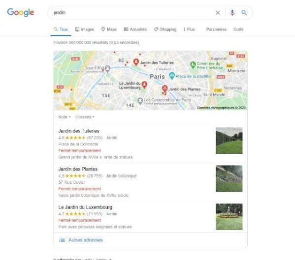 resultats sans mots cles specifiques local SEO