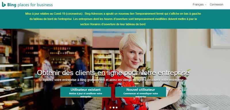 importer les donnees dans bing places local SEO