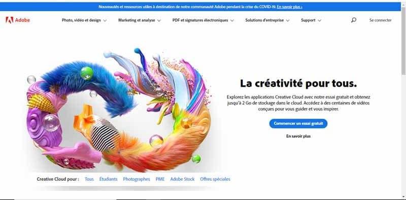 Adobe entreprise specialisee dans l edition et la commercialisation de logiciels de creation