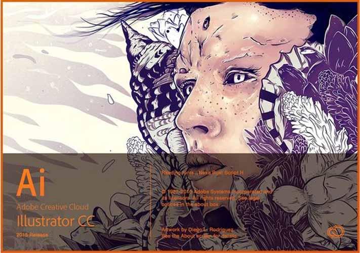 creation accueillant au demarrage de Illustrator CC