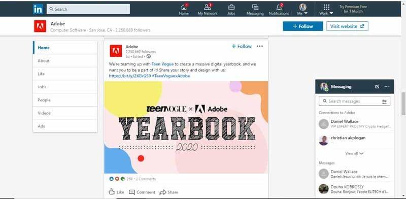 publicite pour Teen Vogue client de Adobe