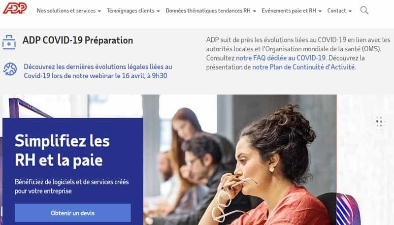 Automatic Data Processing (ADP) fournisseur americain de solutions informatiques de gestion des ressources humaines et gestion de paie
