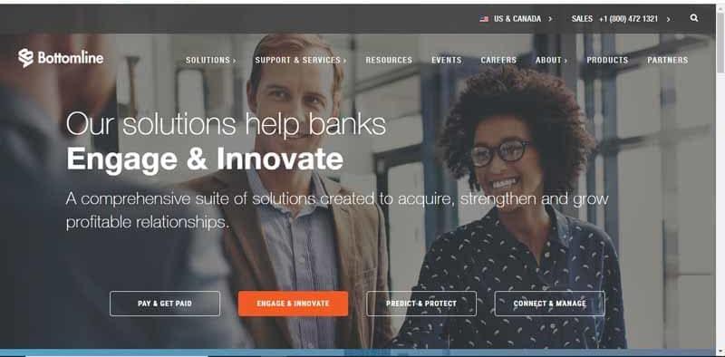Bottomline Technologies compagnie americaine qui aide les entreprises dans leurs payements professionnels