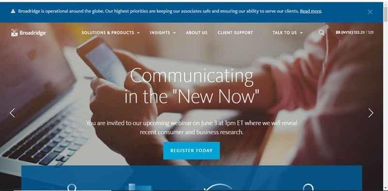 Broadridge fournisseur americain de solutions numeriques pour l industrie de la finance