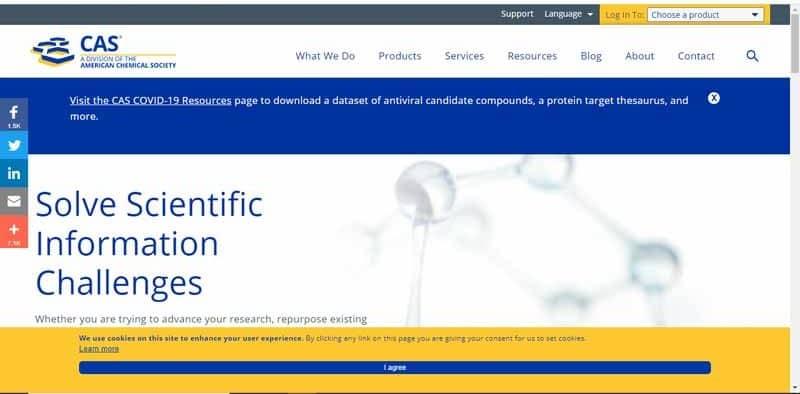 CAS division de American Chemical Society specialisee dans la resolution des defis des informations scientifiques