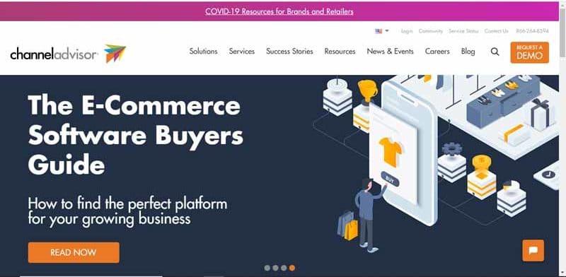 guide des acheteurs de logiciels de commerce electronique fourni par l entreprise Channel Advisor