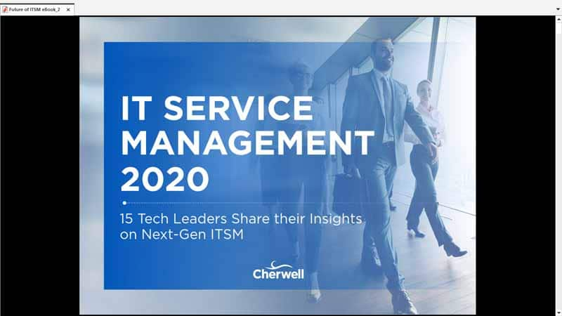 ebook de Cherwell intitule IT Service Management 2020