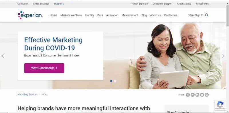 entreprise Experian Marketing Services fournissant des donnees et des outils de CRM pour les petites et moyennes entreprises