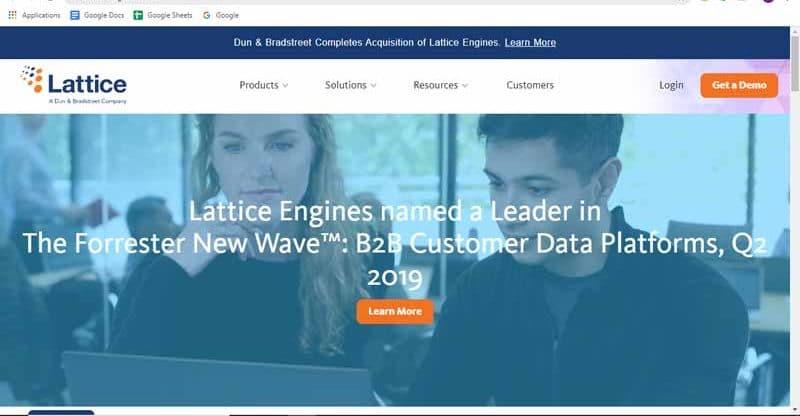 fournisseur d aplications Lattice Engines pour les specialistes du marketing B2B