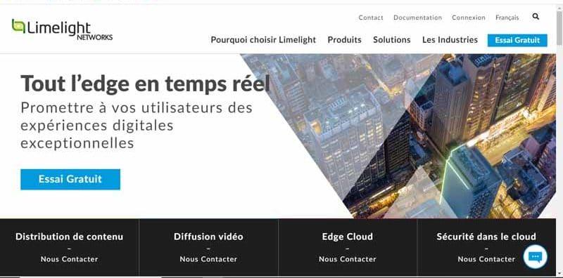 entreprise Limelight Networks experte en hebergement internet de contenus et leur optimisation