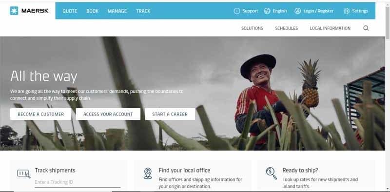Maersk compagnie de transport maritime danoise connaissant aujourdhui du succes avec les reseaux sociaux