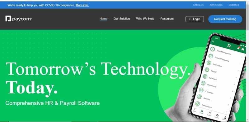 Paycom fournisseur americain de technologies de paie et de ressources humaines en ligne