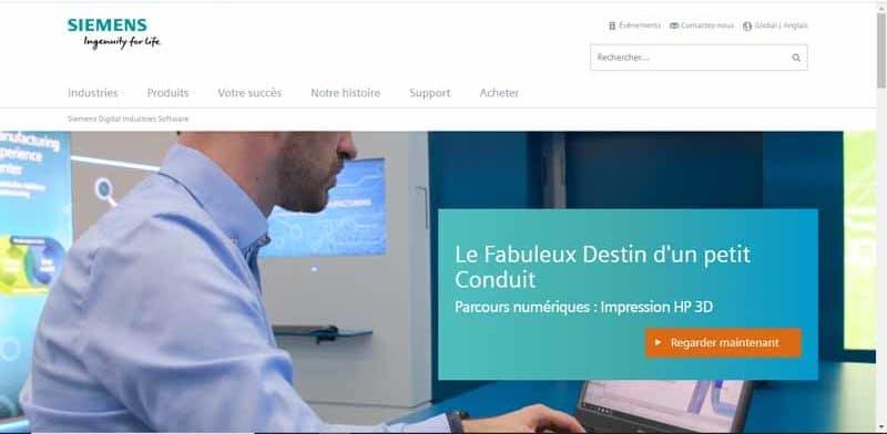 Siemens PLM Software societe specialiste des logiciels 3D et solutions PLM