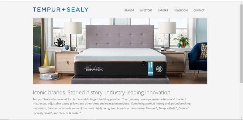 Tempur Sealy Hospitality entreprise fabriquant et commercialisant des produits de sommeil et de relaxation