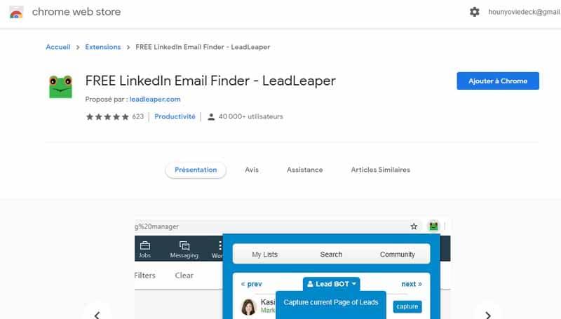LinkedIn Email Finder extension de recherche d emails