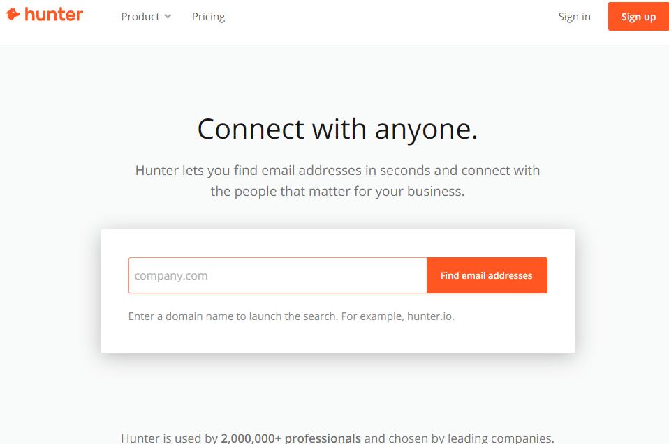 Hunter outil de recherche d adresses email fonctionant comme un moteur de recherche