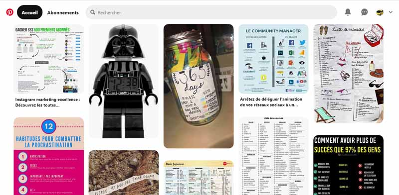 Pinterest un reseau social dedie au partage des photographies
