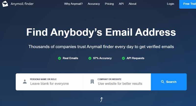 ANYMAILFINDER outil de recherche d adresse email