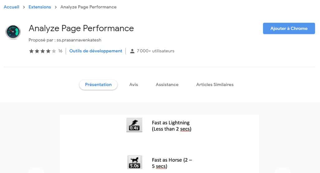Analyze Page Performance