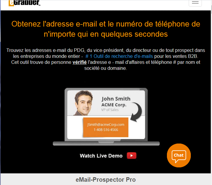 Email prospector pro outil de recherche d adresse email professionnelle