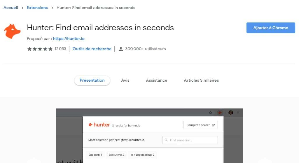 Hunter Find email addresses in seconds