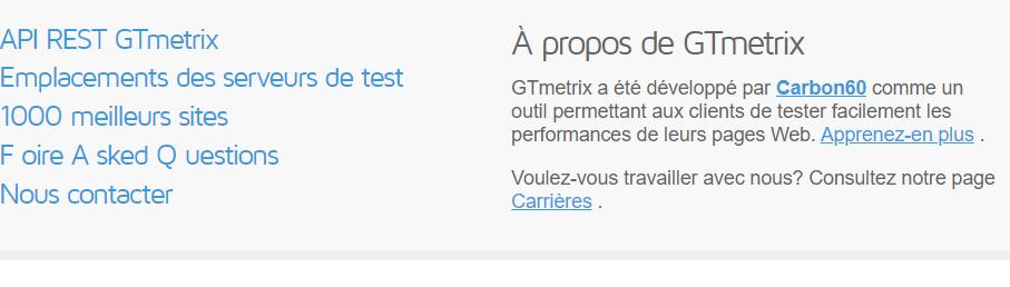 generer les details d une API en choisissant API Rest GTmetrix