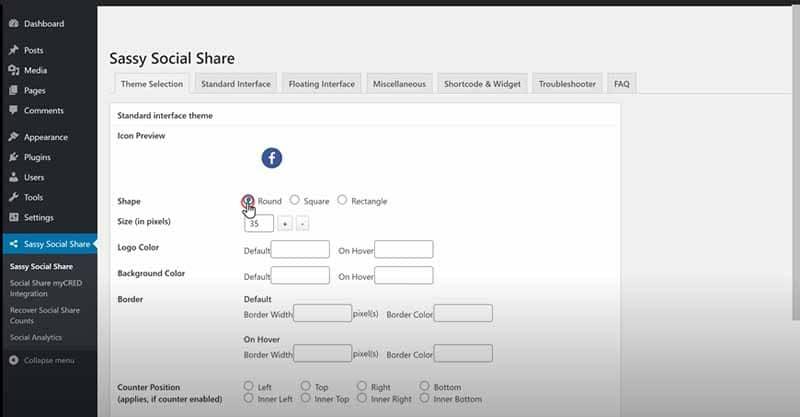 les options de personnalisation des boutons avec WordPress