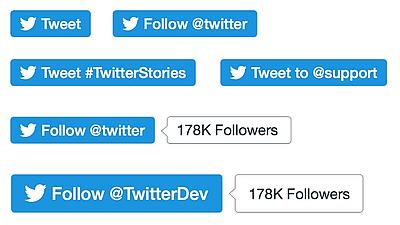 les boutons pour Twitter