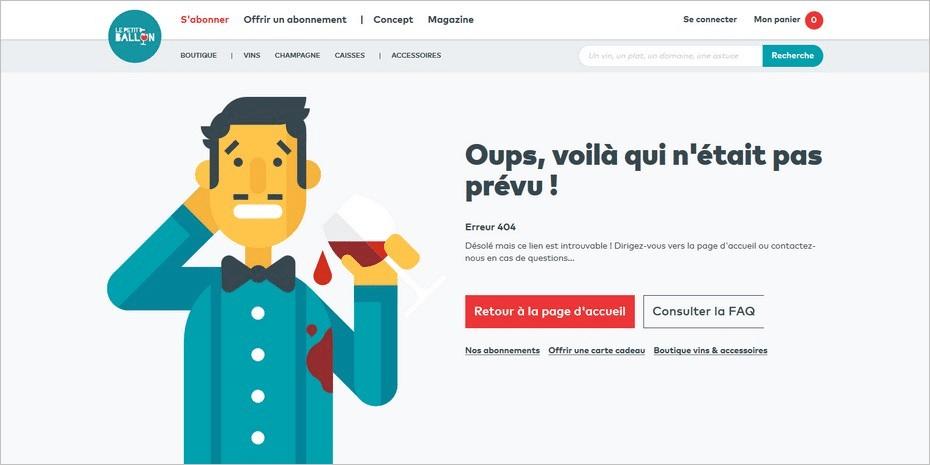 L erreur 404 personnalisee