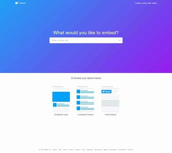 choisir l option bouton twitter sur publishtwitter