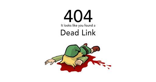 404 Lien brisé