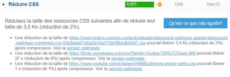 minimiser le CSS
